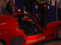 Ultima GTR - gull wing doors and beautiful cockpit (click for larger image)