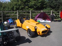 My car in paddock at Llys y Fran (click for larger image)