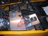 ECU, voltage regulator and starter solenoid now in situ (click for larger image)