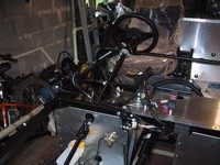 Steering column in situ - will tweak this later when dash fitted (click for larger image)