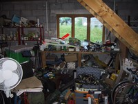 Garage bench pre-tidying (click for larger image)