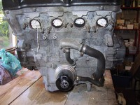Engine on operating table (click for larger image)