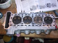 Inside cylinder head - looks like 1,3 & 4 have been running a bit rich (click for larger image)