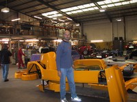 Me with chassis and bodywork (click for larger image)